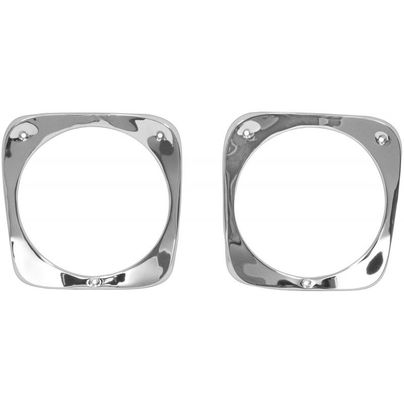 Headlight Bezels - Chrome - 60-66 Chevy Pickup