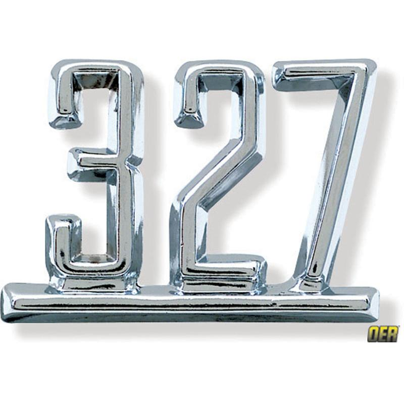 Front Fender Emblem - 327 67 Camaro, 65-67 Nova