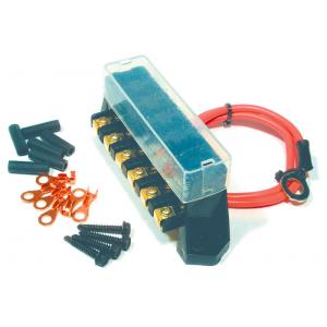 American Autowire 6-Fuse Auxiliary Fuse Block Bus Assembly