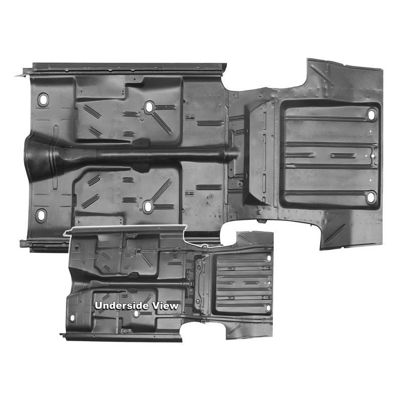 Complete Floor Pan & Trunk Pan - 66-67 Nova