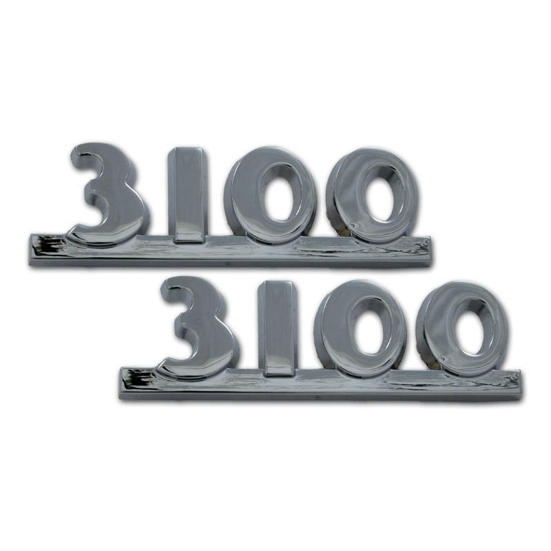 Hood Side Emblems - Pair - 3100 - 47-54 Chevy Pickup