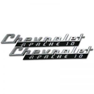 Hood Side Emblems - Pair - Chevrolet Apache 10 - 60-66 Chevy Pickup
