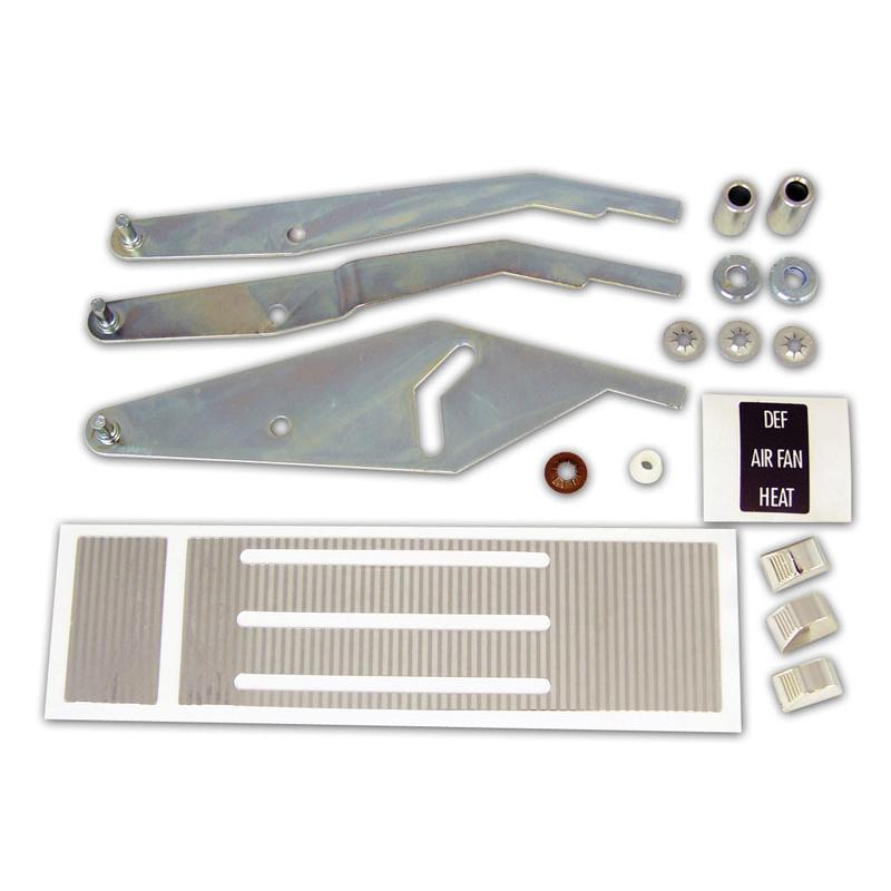 Chrome Heater Control Lever Kit w/o A/C - 67-72 Chevy Pickup