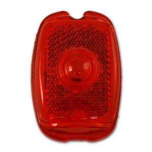 Tail Light Lens - Plastic - 37-52 Chevy Fullsize, 40-53 Chevy & GMC Pickup