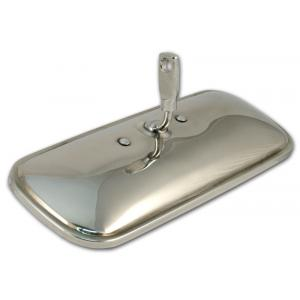 Rear View Mirror - Stainless - 58-62 Chevy Fullsize, 60-71 Chevy & GMC Pickup