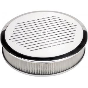 "Billet Specialties 14"" Round Air Cleaner - Ball Milled"